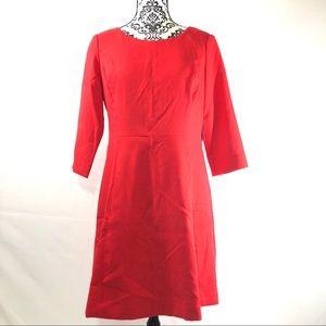Vince Camuto Crepe A-Line Dress 12P 3/4 Sleeve